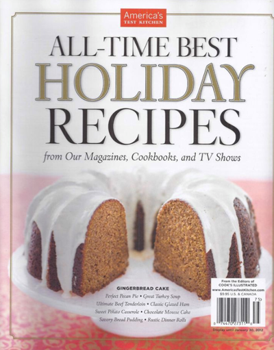 America's Test Kitchen Special Issue: All-Time Best Holiday Recipes (2011)