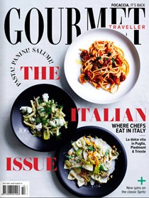 Australian Gourmet Traveller Magazine, October 2017: The Italian Issue