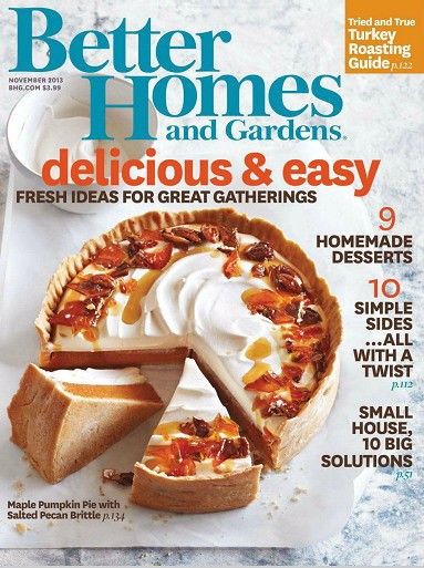 Better Homes And Gardens Magazine November 2013 Eat Your Books