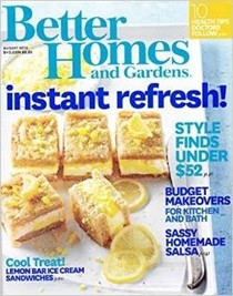 Better Homes and Gardens Magazine, August 2014