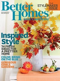 Better Homes and Gardens Magazine, September 2014: The Stylemaker Issue