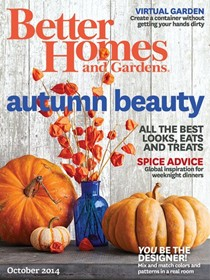 Better Homes and Gardens Magazine, October 2014