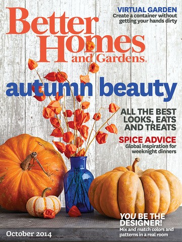Better Homes And Gardens Magazine October 2014 Eat Your Books