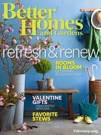 Better Homes and Gardens Magazine, February 2015