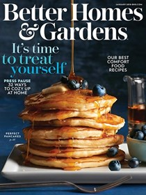 Better Homes and Gardens Magazine, January 2018