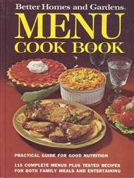 Better Homes and Gardens Menu Cookbook