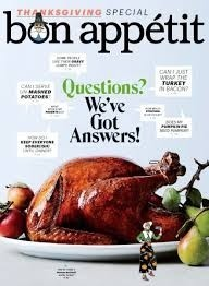 Bon Appétit Magazine, November 2015: Thanksgiving Special