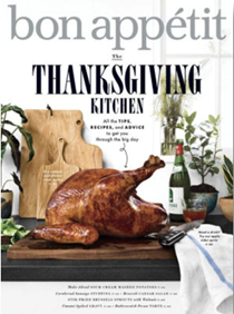 Bon Appétit Magazine, November 2018: The Thanksgiving Kitchen