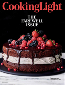 Cooking Light Magazine, December 2018: The Farewell Issue