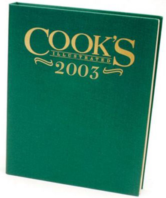 Cook's Illustrated Annual Edition 2003