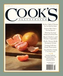 Cook's Illustrated Magazine, Jan/Feb 2016