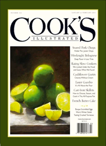 Cook's Illustrated Magazine, Jan/Feb 2017