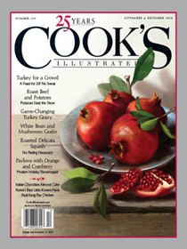 Cook's Illustrated Magazine, Nov/Dec 2018