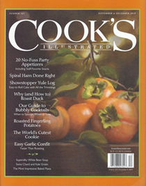 Cook's Illustrated Magazine, Nov/Dec 2019