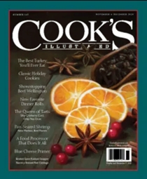 Cook's Illustrated Magazine, Nov/Dec 2020