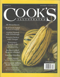 Cook's Illustrated Magazine, Sep/Oct 2020
