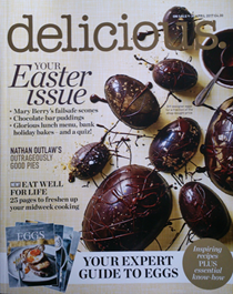 Delicious Magazine (UK), April 2017: Easter Issue