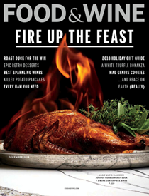 Food & Wine Magazine, December 2018