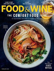 Food & Wine Magazine, February 2018: The Comfort Food Issue