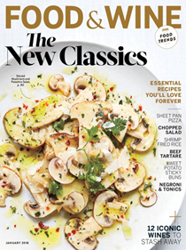 Food & Wine Magazine, January 2018