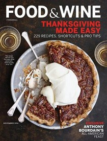Food & Wine Magazine, November 2016