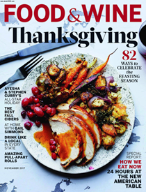 Food & Wine Magazine, November 2017: The Thanksgiving Issue