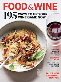Food & Wine Magazine, October 2016