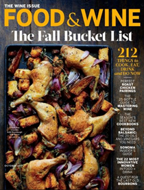Food & Wine Magazine, October 2017: The Wine Issue