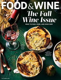 Food & Wine Magazine, October 2018: The Fall Wine Issue