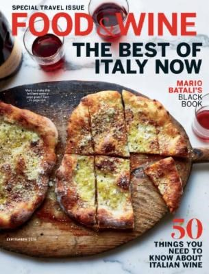 Food & Wine Magazine, September 2016: The Travel Issue