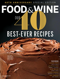 Food & Wine Magazine, September 2018: 40th Anniversary Special Edition