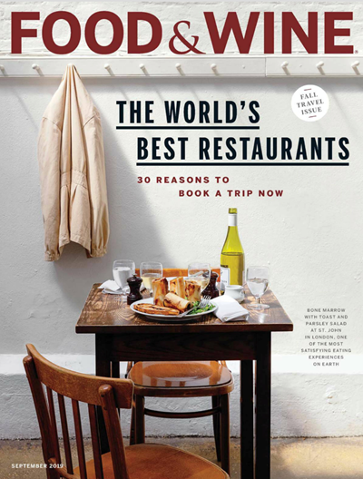 Food & Wine Magazine, September 2019: Fall Travel Issue
