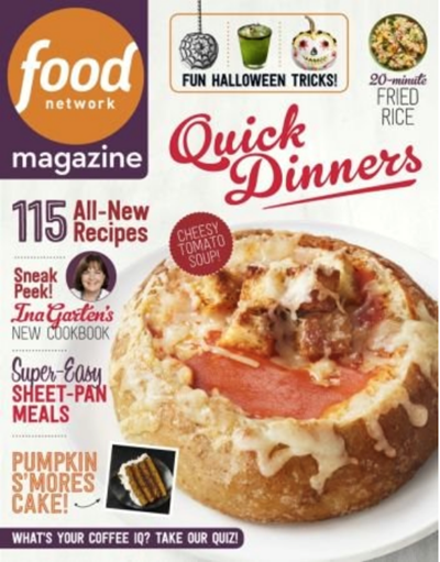 Food Network Magazine October 2018 Eat Your Books