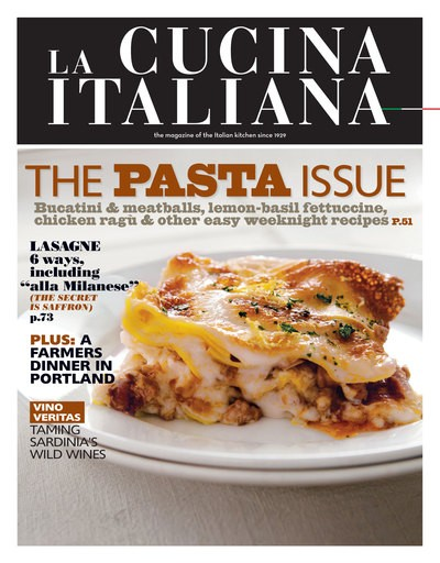 La Cucina Italiana Magazine, Sep/Oct 2013: The Pasta Issue