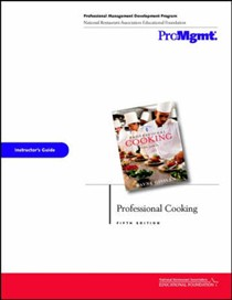 Professional Cooking Instructor's Guide